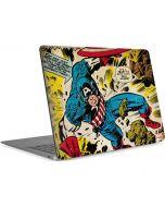 Captain America Rooftop Explosion Apple MacBook Air Skin