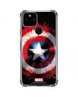 Captain America Shield Google Pixel 5 Clear Case
