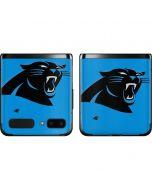 Carolina Panthers Large Logo Galaxy Z Flip Skin