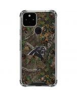 Carolina Panthers Realtree Xtra Green Camo Google Pixel 5 Clear Case