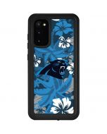 Carolina Panthers Tropical Print Galaxy S20 Waterproof Case
