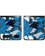 Carolina Panthers Tropical Print Galaxy Z Flip Skin