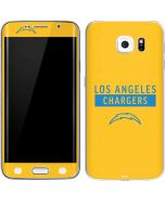 Los Angeles Chargers Yellow Performance Series Galaxy S6 Edge Skin