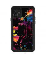 Chromatic Splatter Black iPhone 11 Waterproof Case