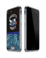 Charlotte Hornets Retro Palms iPhone SE Clear Case