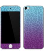 Cheetah Print Purple and Blue Apple iPod Skin