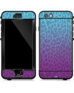 Cheetah Print Purple and Blue LifeProof Nuud iPhone Skin