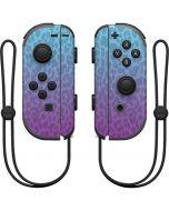 Cheetah Print Purple and Blue Nintendo Joy-Con (L/R) Controller Skin