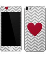 Chevron Heart Apple iPod Skin