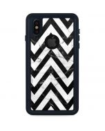 Chevron Marble iPhone XS Waterproof Case