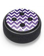 Chevron Purple Ombre Amazon Echo Dot Skin