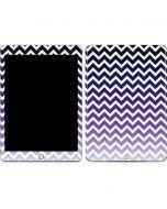 Chevron Purple Ombre Apple iPad Skin
