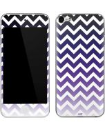 Chevron Purple Ombre Apple iPod Skin