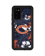 Chicago Bears Tropical Print Galaxy S20 Waterproof Case