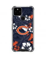 Chicago Bears Tropical Print Google Pixel 5 Clear Case