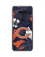 Chicago Bears Tropical Print LG K51/Q51 Clear Case