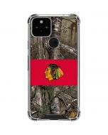 Chicago Blackhawks Realtree Xtra Camo Google Pixel 5 Clear Case