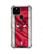 Chicago Bulls Away Jersey Google Pixel 5 Clear Case
