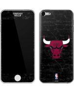 Chicago Bulls Black Distressed Apple iPod Skin