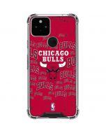Chicago Bulls Blast Google Pixel 5 Clear Case