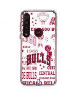 Chicago Bulls Historic Blast Moto G8 Plus Clear Case