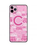 Chicago Cubs - Pink Cap Logo Blast iPhone 11 Pro Max Skin