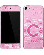 Chicago Cubs - Pink Cap Logo Blast Apple iPod Skin