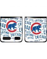 Chicago Cubs - White Cap Logo Blast Galaxy Z Flip Skin
