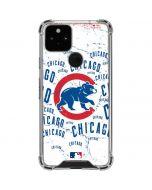 Chicago Cubs - White Cap Logo Blast Google Pixel 5 Clear Case
