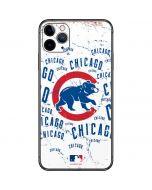 Chicago Cubs - White Cap Logo Blast iPhone 11 Pro Max Skin