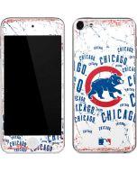 Chicago Cubs - White Cap Logo Blast Apple iPod Skin