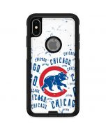 Chicago Cubs - White Cap Logo Blast Otterbox Commuter iPhone Skin