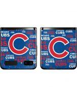 Chicago Cubs -Cap Logo Blast Galaxy Z Flip Skin