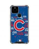 Chicago Cubs -Cap Logo Blast Google Pixel 5 Clear Case