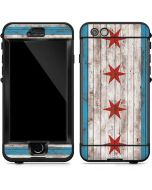 Chicago Flag Dark Wood LifeProof Nuud iPhone Skin