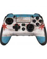 Chicago Flag Dark Wood PlayStation Scuf Vantage 2 Controller Skin