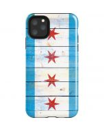 Chicago Flag Light Wood iPhone 11 Pro Max Impact Case