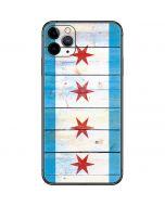 Chicago Flag Light Wood iPhone 11 Pro Max Skin