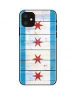 Chicago Flag Light Wood iPhone 11 Skin