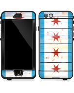 Chicago Flag Light Wood LifeProof Nuud iPhone Skin