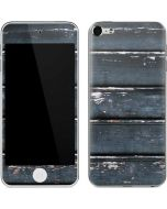 Chipped Blue Wood Apple iPod Skin