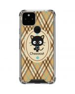 Chococat Brown and Blue Plaid Google Pixel 5 Clear Case