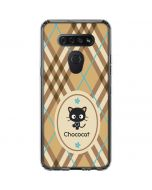 Chococat Brown and Blue Plaid LG K51/Q51 Clear Case