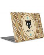 Chococat Brown and Blue Plaid Apple MacBook Air Skin