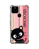 Chococat Pink and Brown Stripes Google Pixel 5 Clear Case