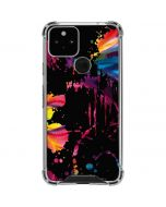 Chromatic Splatter Black Google Pixel 5 Clear Case