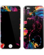 Chromatic Splatter Black Apple iPod Skin