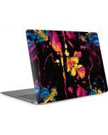 Chromatic Splatter Black Apple MacBook Air Skin