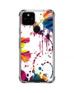Chromatic Splatter White Google Pixel 5 Clear Case