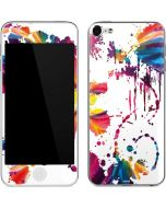 Chromatic Splatter White Apple iPod Skin